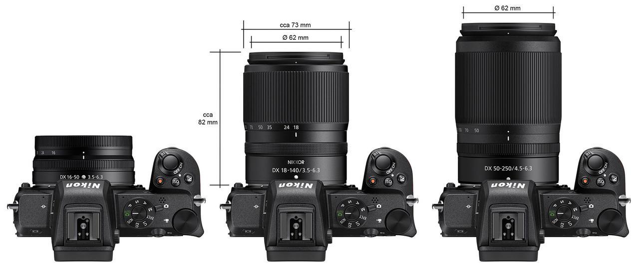 Kliknij obrazek, aby uzyskać większą wersję  Nazwa:Nikon-NIKKOR-Z-DX-18-140mm-f3.5-6.3-VR-lens-size-comparison.jpg Wyświetleń:17 Rozmiar:271,6 KB ID:53266